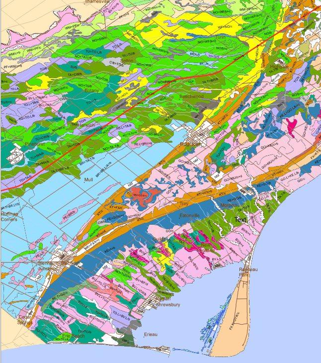 Soil composition map southern Ontario.png