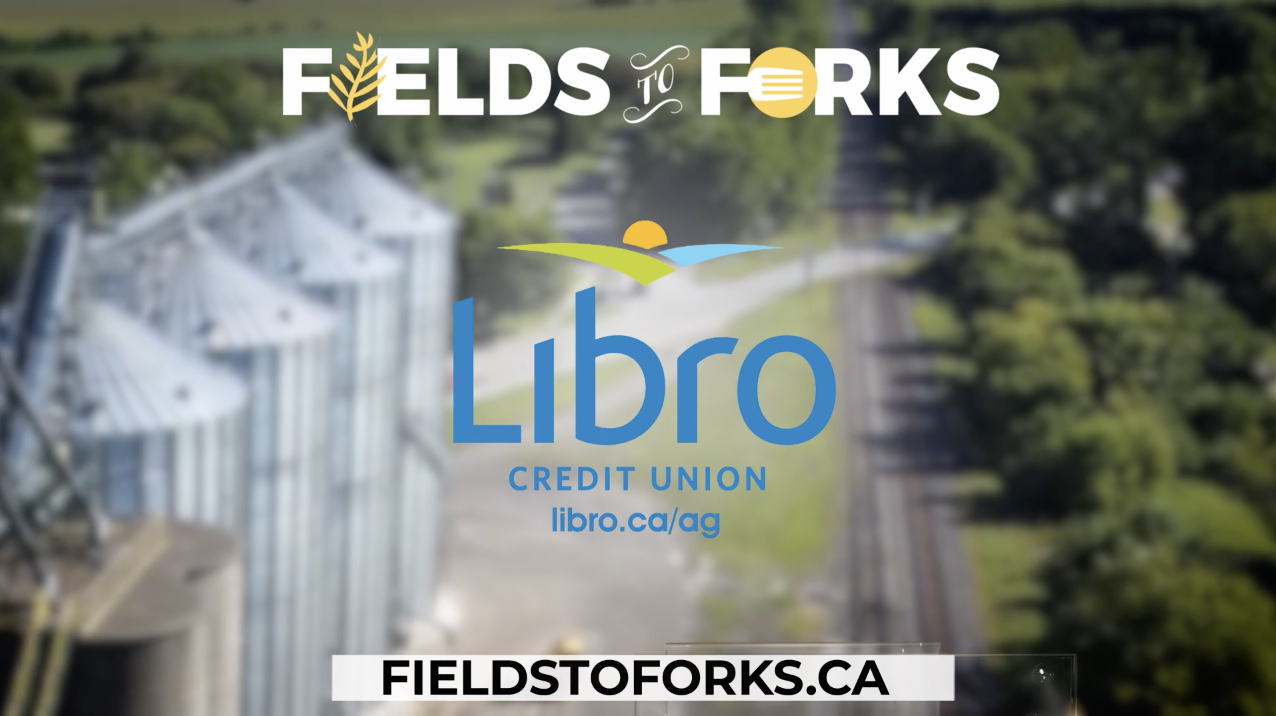 Libro Credit Union features AGRIS Co-operative in Fields To Forks commercial on CTV